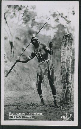 Australian aboriginal and Totem pole.