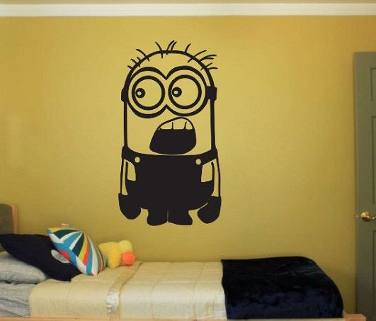 Minion Vinyl Wall Decal Sticker Despicable me Large kids bedroom fun nursery disney bedroom dream book minion minion by ColtonsPlace on Etsy https://www.etsy.com/listing/237530141/minion-vinyl-wall-decal-sticker