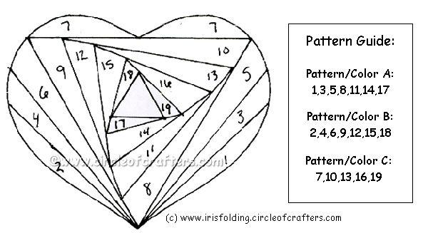 iris folding free patterns | Iris Folding @ CircleOfCrafters.com: Free Heart Pattern