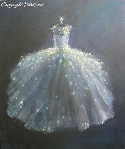 'STARDUST BALL GOWN'. star fashion painting ballet Tutu original canvas by 4WitsEnd, via Etsy