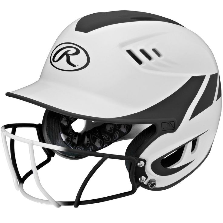 Rawlings Velo Junior 2-Tone Home Softball Helmet w-Mask-Blk