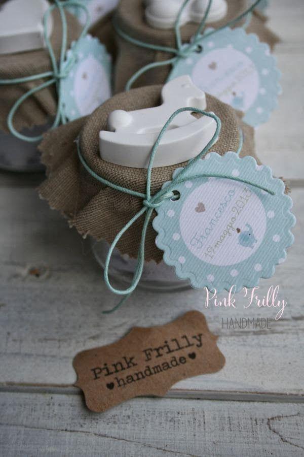Pink Frilly: Battesimo elefantino pois e menta