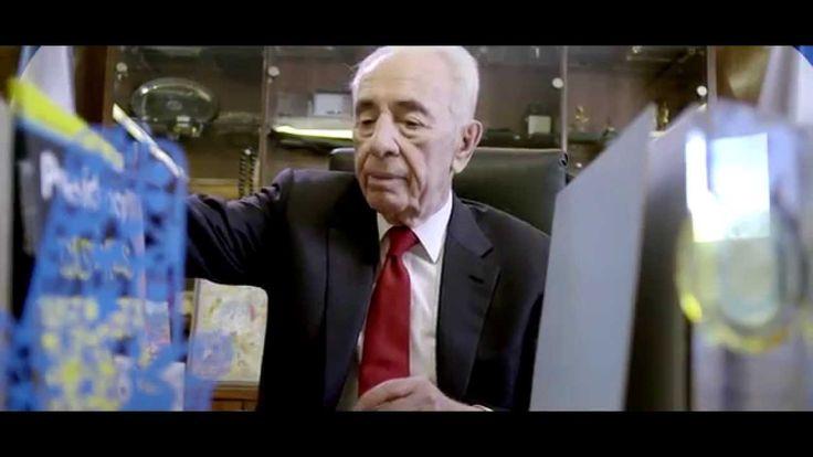 Com 91 anos, o ex-presidente de Israel Shimon Peres agora está procurando emprego! Assista...