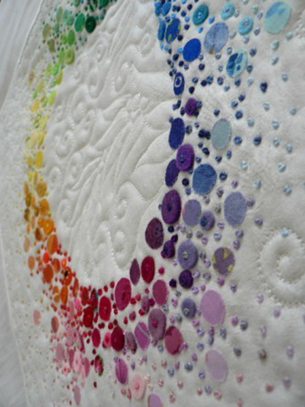 Gorgeous embellishments, a different way to represent color in a quilt