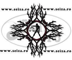 Tribal tattoo voor alle personen die onder het sterrenbeeld Weegschaal geboren zijn.