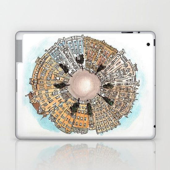 Riga - Latvia Laptop & iPad Skin by World Sketching Tour - Luís Simões | Society6