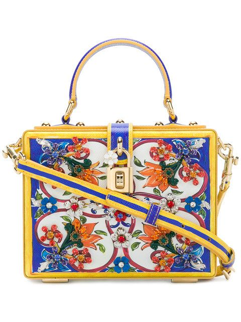 579115ad21 DOLCE & GABBANA Majolica Box Bag. #dolcegabbana #bags #shoulder bags #hand  bags #stone #leather #