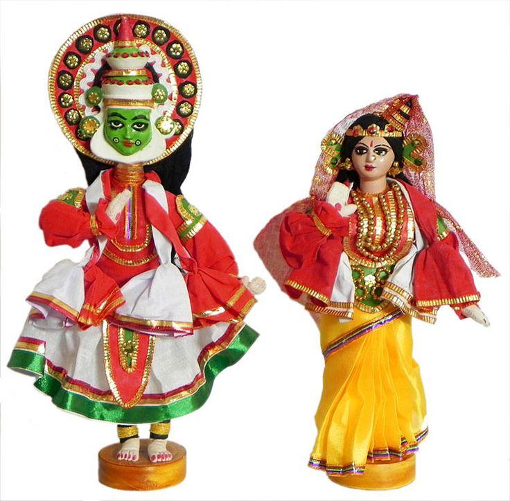 Kathakali Dancers as Arjuna and Draupadi (Cloth))