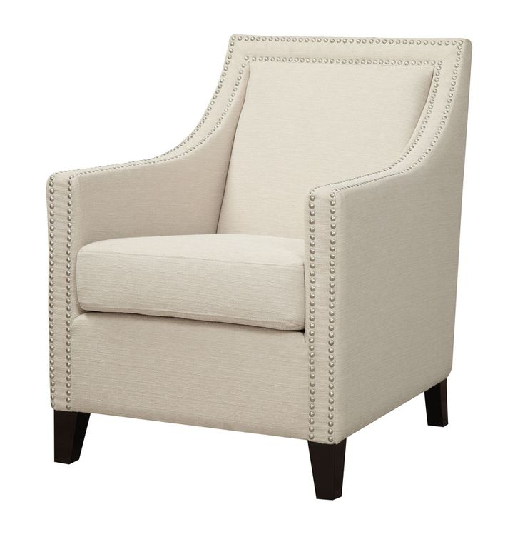2 TWO IN STOCK   Janae Accent Chair with Nailhead  27 5L x 31W. 1000  images about DD Zoya Renton on Pinterest   4 in  Queen sofa