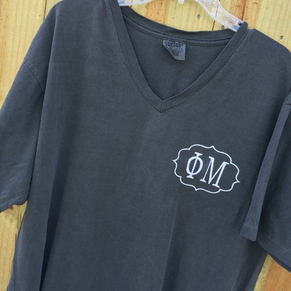 Phi Mu Sorority Monogrammed Comfort Colors by SouthernKnitsbyLaura