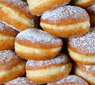 Koblihy – Czech Carnival Donuts. Best things ever! My grandmother would make these on holidays.