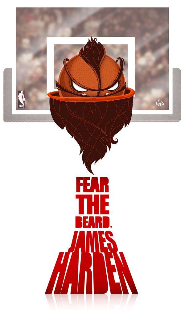 James Harden - Fear the Beard Ball by Antonio de Padua Neto78, via Behance