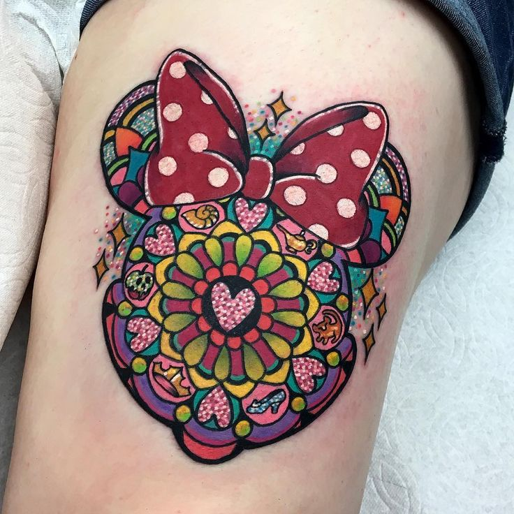 Minnie Mouse Disney Mandala tattoo