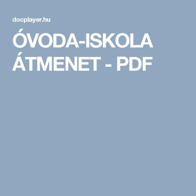 ÓVODA-ISKOLA ÁTMENET - PDF
