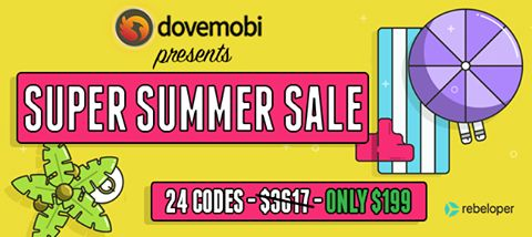 DOVEMOBI Super Summer Sale is NOW ON! 24 iOs Codes worth over $3000 NOW ONLY for $199.   #buysourcecode #buyiossourcecode