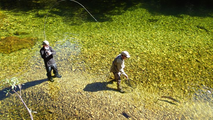 Client guide teamwork at its finest. www.southernriversflyfishing.co.nz