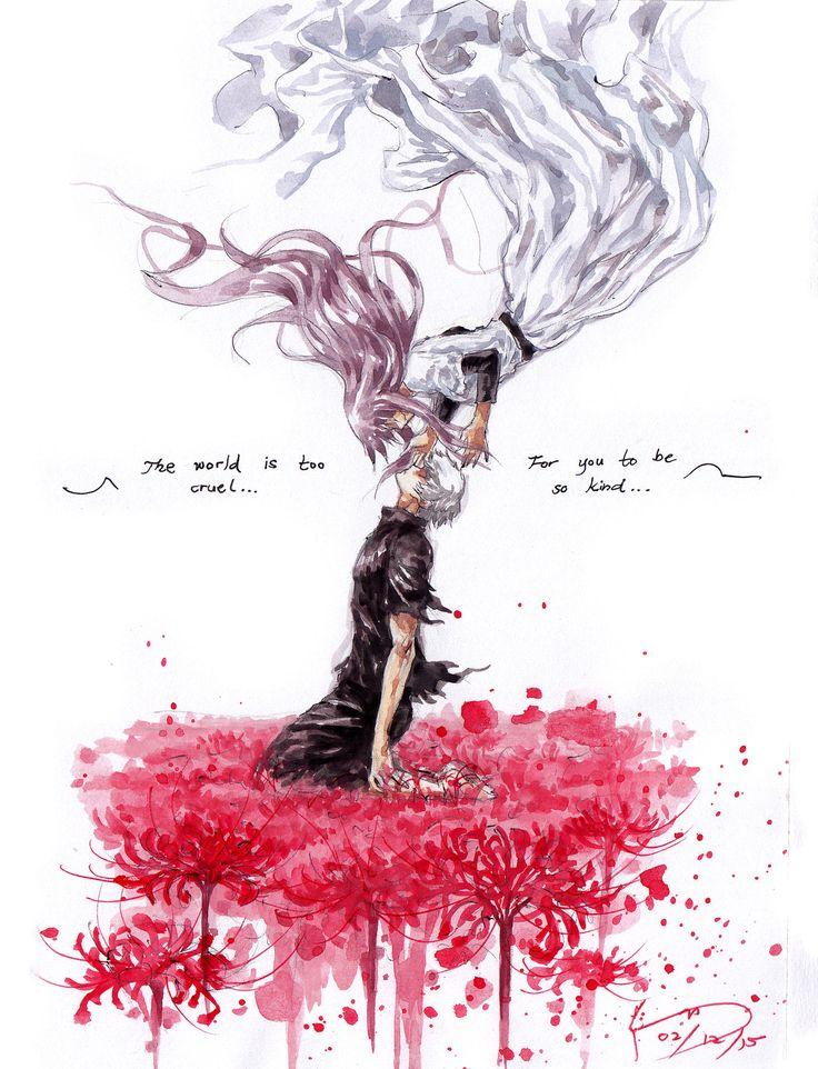 Kaneki And Rize by Nick-Ian ||| Tokyo Ghoul Fan Art