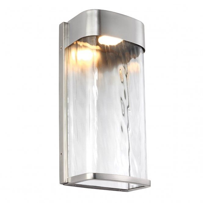 Bennie Large Led Contemporary Outdoor Wall Light In Brushed Steel Led Outdoor Wall Lights Outdoor Wall Lantern Outdoor Wall Lighting