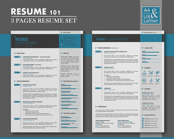 102 Best Unique And Clean Resume Template Images On Pinterest