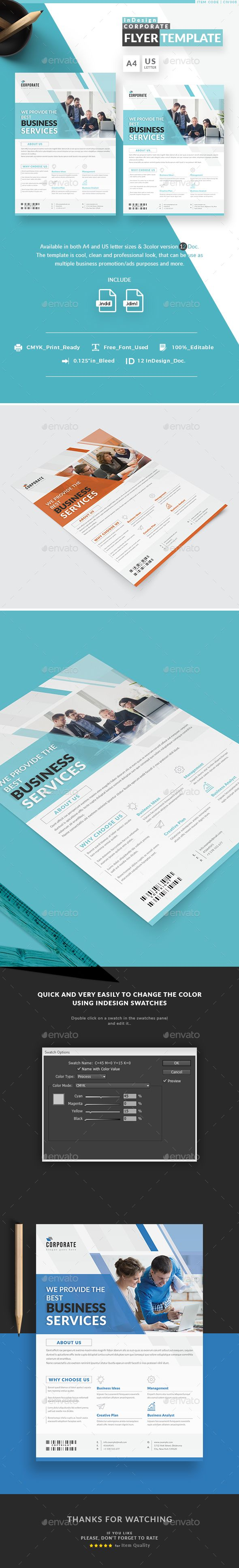 #InDesign Corporate Flyer Templates - #Corporate #Flyers