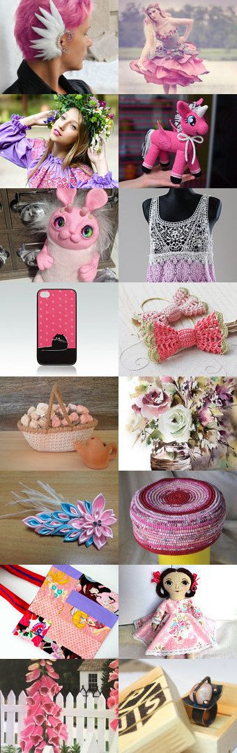Pink is also the music!)))) by Svet on Etsy--Pinned+with+TreasuryPin.com