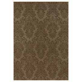 Hand-knotted New Zealand wool rug with a damask-inspired motif.  Product: RugConstruction Material: New Zealand woolColor: BrownFeatures: Hand-knotted Note: Please be aware that actual colors may vary from those shown on your screen. Accent rugs may also not show the entire pattern that the corresponding area rugs have.