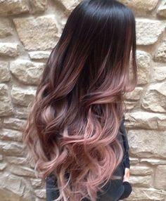 Tendencias en tintes de pelo 2016: Ombre hair rosa pastel - Ombre hair rosa pastel con base oscura