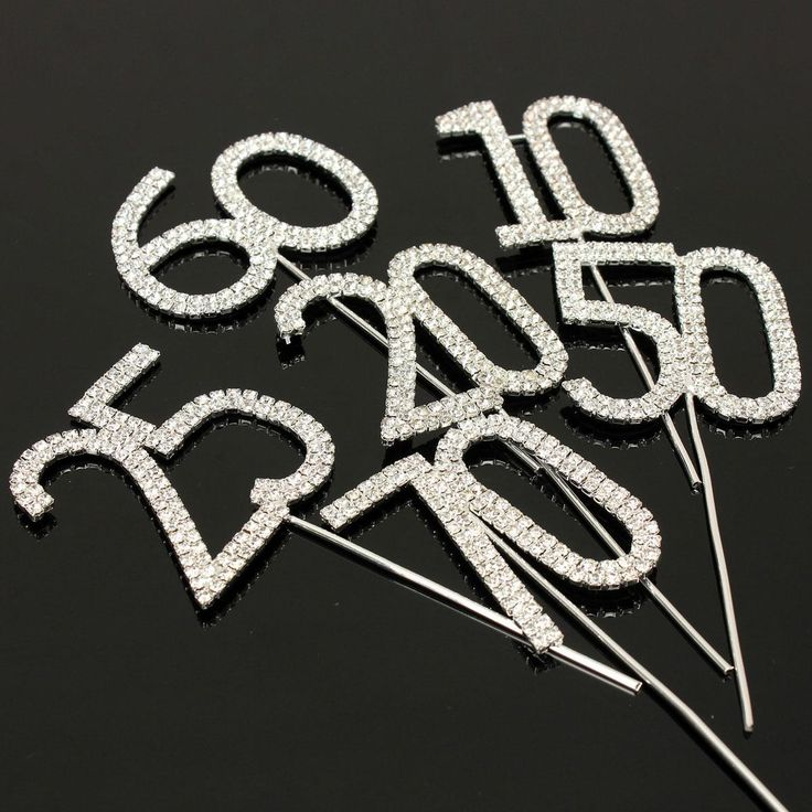 Hot Selling Cake Topper Crystal Rhinestone Numbers Monogram Wedding Anniversary Birthday Party Decoration(China (Mainland))
