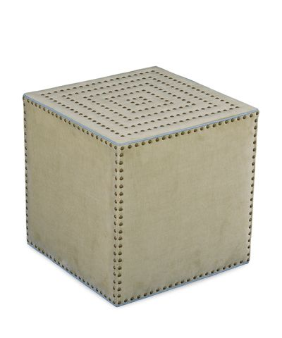 Adora Square Ottoman In Patton Flax