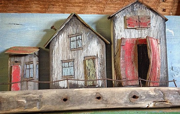 Rustic old houses @Greytimberwolfcrafts@etsy.com