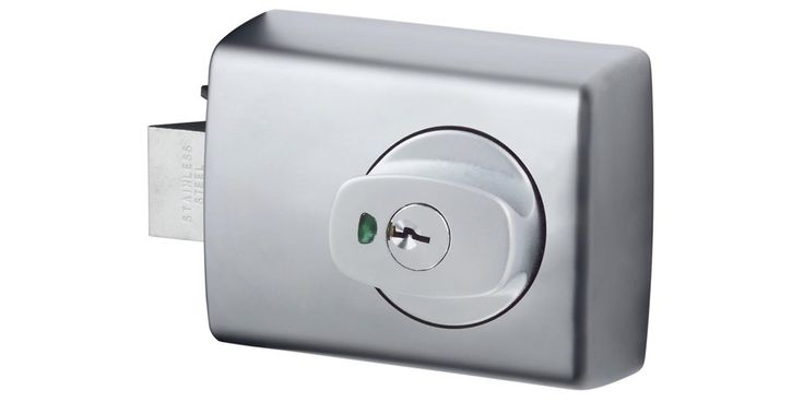 001 Double Cylinder Deadlatch - Knob and Lever - Chrome Plate