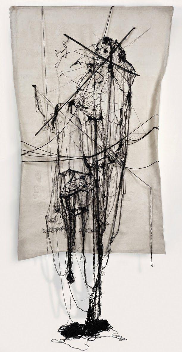 Zina Katz Broderies en laine sur coton peint