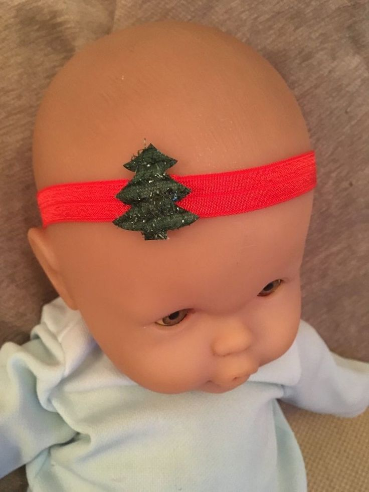 UK SELLER Baby Girl Bow Hairband Soft Elastic Headbands Christmas Tree Red Green  | eBay