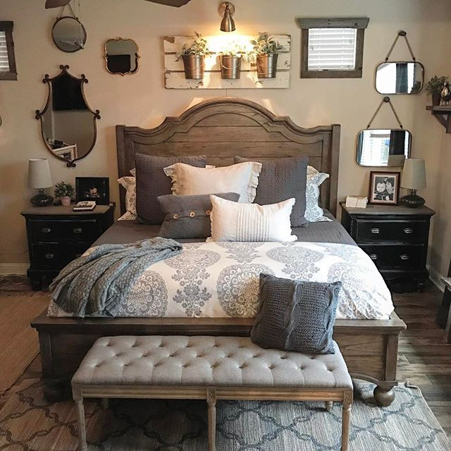 33 Sweet Shabby Chic Bedroom Décor Ideas: 25+ Best Ideas About No Headboard Bed On Pinterest