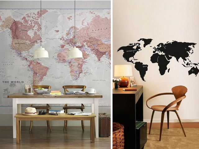 46 best wall map wallpaper images on pinterest world maps world map wall art canvas vinyl or paper and put pins publicscrutiny Images