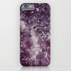 Deep Purple Quartz Crystal iPhone 6s Slim Case