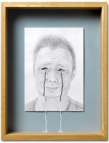 Peter Callesen - Framed A4 Papercuts, Crying My Eyes Out, 2008