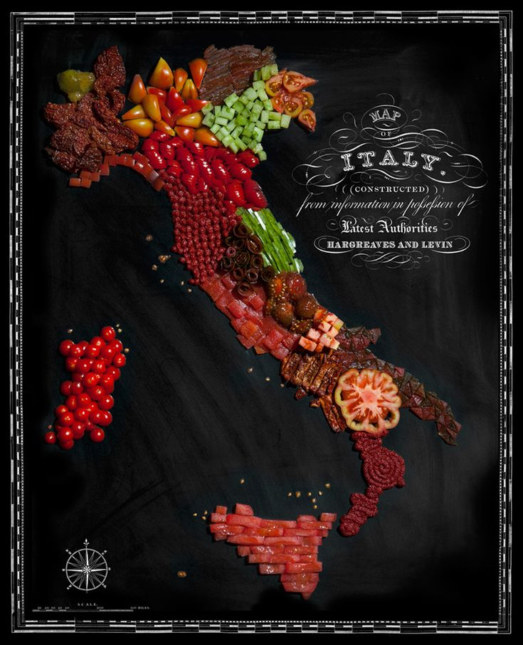 Stunningly delicious maps made entirely out of food. South America looks delicious! | DesignFaves
