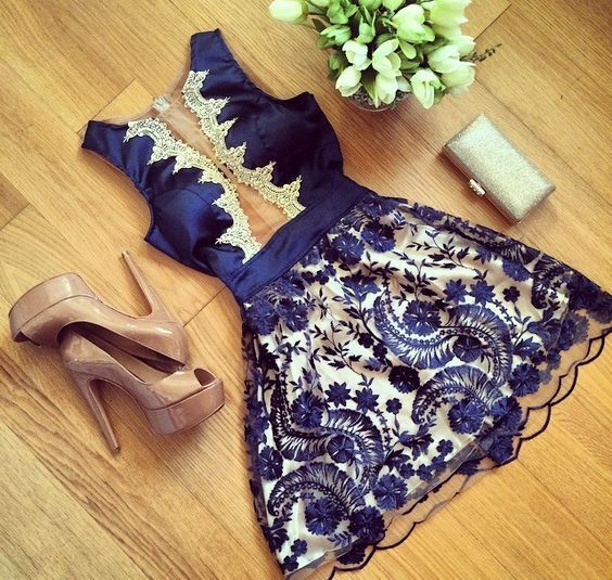 Homecoming Dresses, Charming Prom Dress,Lovely Cute Prom Dress,Sexy Prom Gown,Lace Homecoming Dresses,homecoming gown,navy blue prom gowns