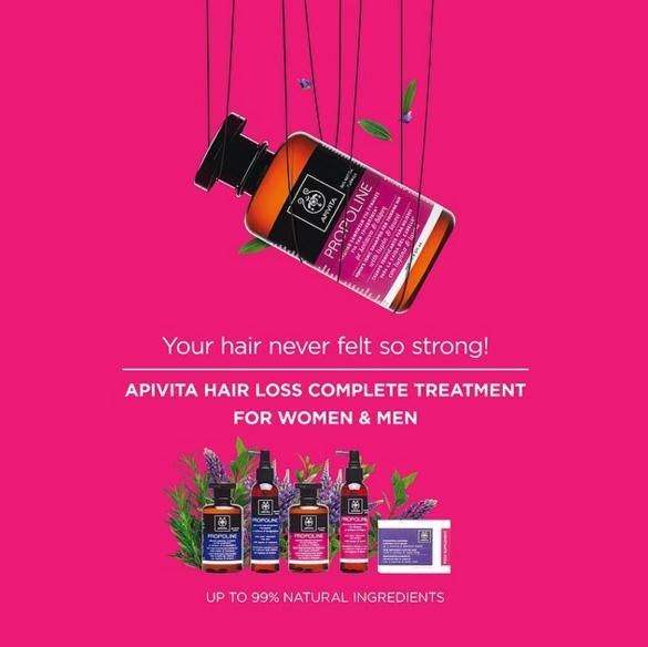 Nature's best against #hairloss  #Apivita # hairloss comprete treatment for men and women! #yourhairtalks Read more at www.apivita.com
