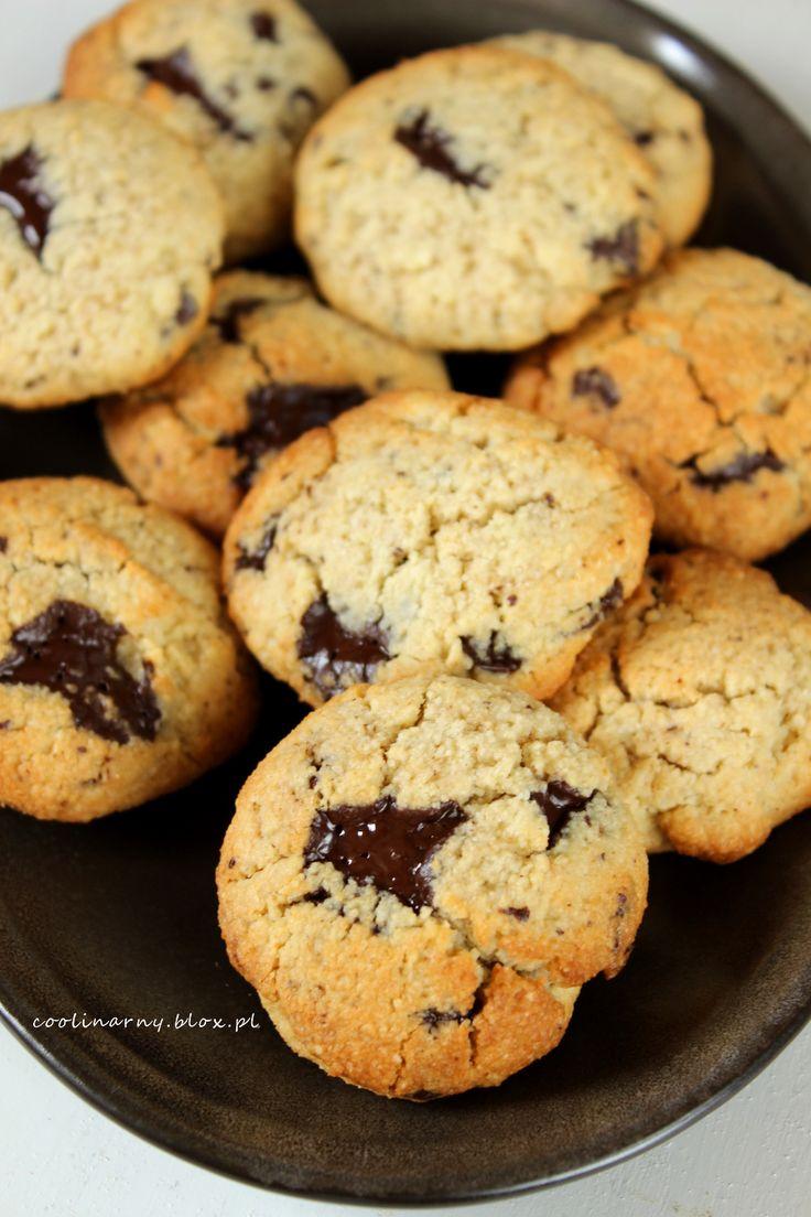 Bezglutenowe ciasteczka owsiane z czekoladą