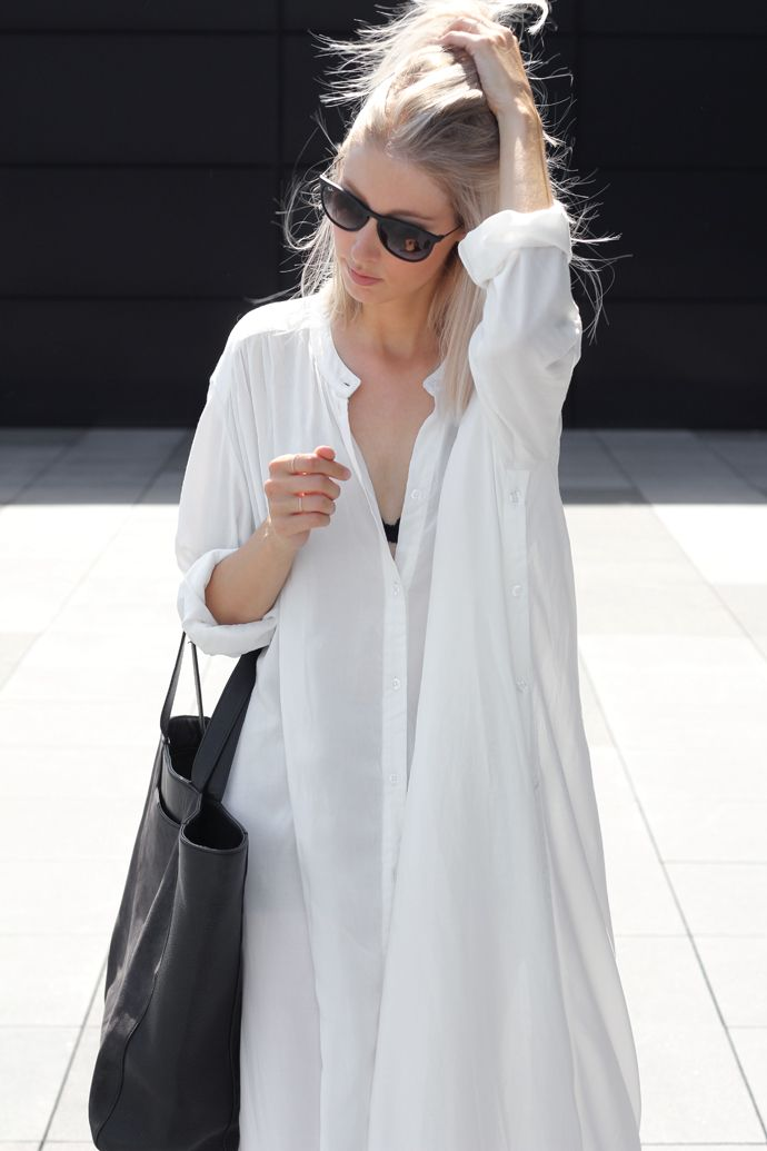 b0d62dce This kind of looks like a nightgown...and I kind of don't care. | The white  shirt | Fashion, Style, Minimal fashion