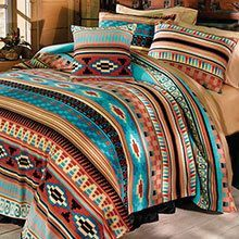 Whisper-weight fleece is a great option in any season. Our Mesa Fleece blankets and accessories are super-soft, carefree polyester that provides just the right warmth and weight to keep you perfectly comfortable, all year long! Colorful stripe brings Southwestern character to your room. Machine wash. Imported. (Shown with Oh-So-Easy Stretch Bedskirt, sold separately). Available in: Twin Blanket - 60 x 90 Full Blanket - 80 x 90 Queen Blanket - 90 x 90 King Blanket - 106 x 90 Standa...