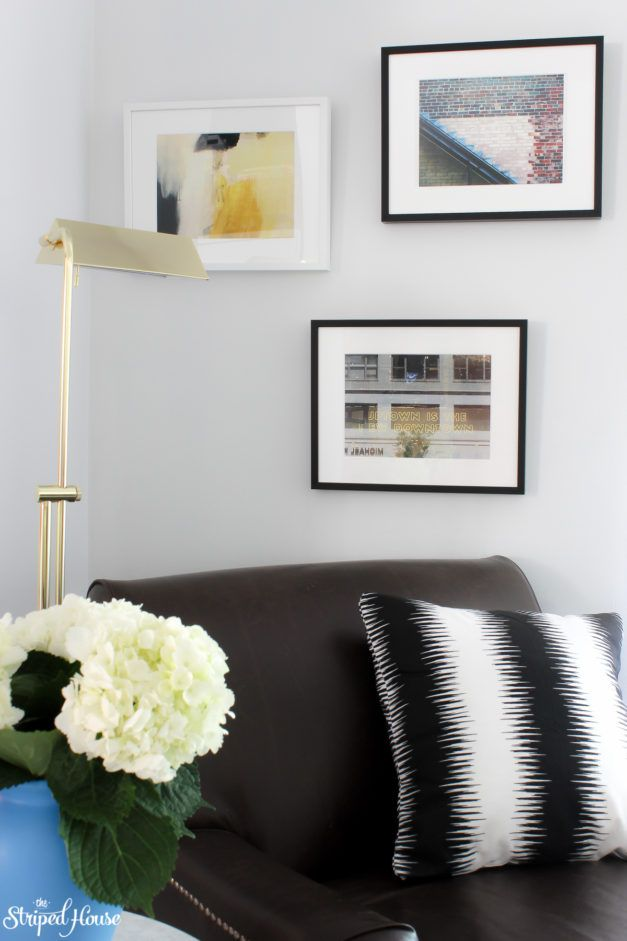 Living Room Makeover   The Striped House   One Room Challenge   modern traditional eclectic decor