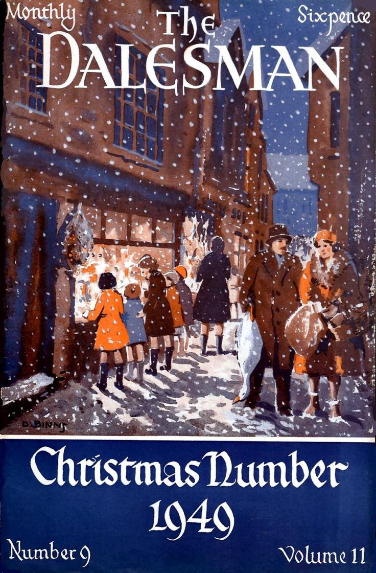 1949 Christmas. The Dalesman magazine front cover