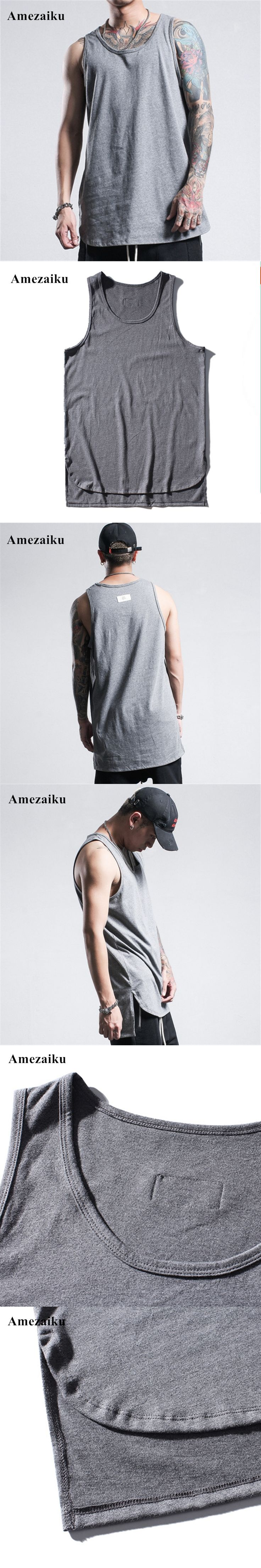 2017 New Brand mens bodybuilding tank tops cotton men Sleeveless t shirts Casual beach vest Men Fitness Casual Clothing