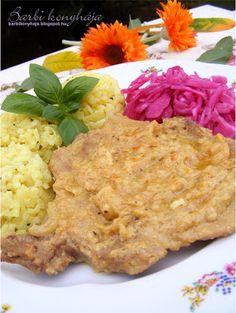 Barbi konyhája: Mustáros sörben pácolt csontos karaj