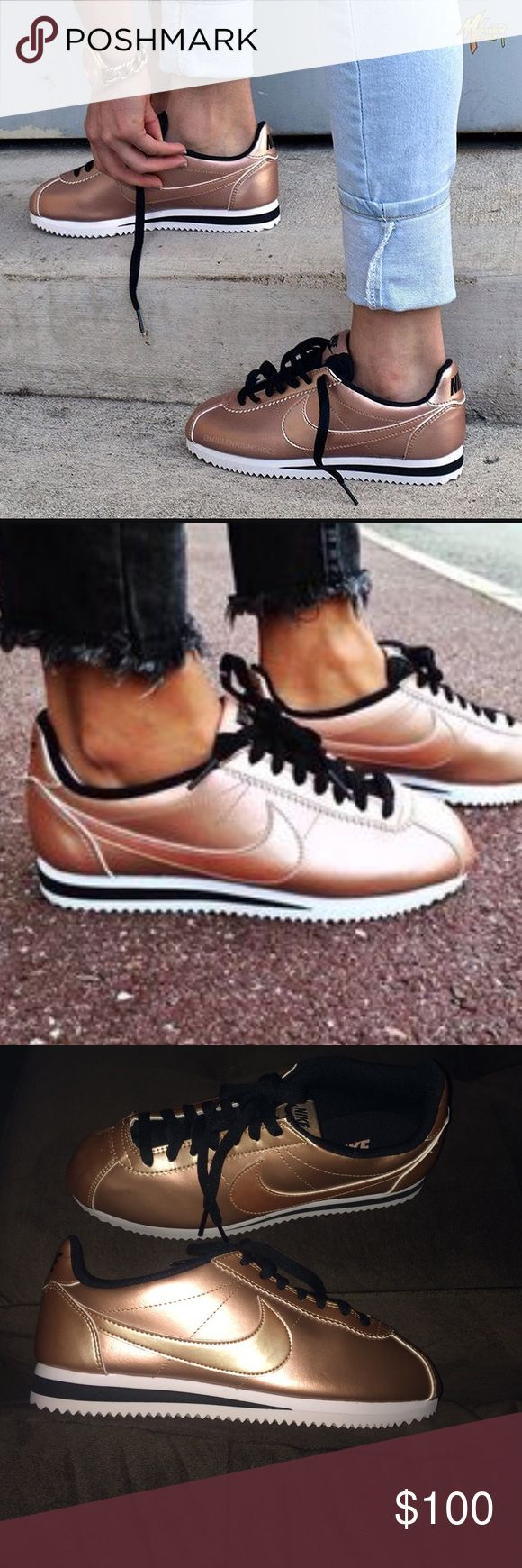 Nike Cortez Leather Rose Gold New, no box. never used. Nike Shoes Sneakers