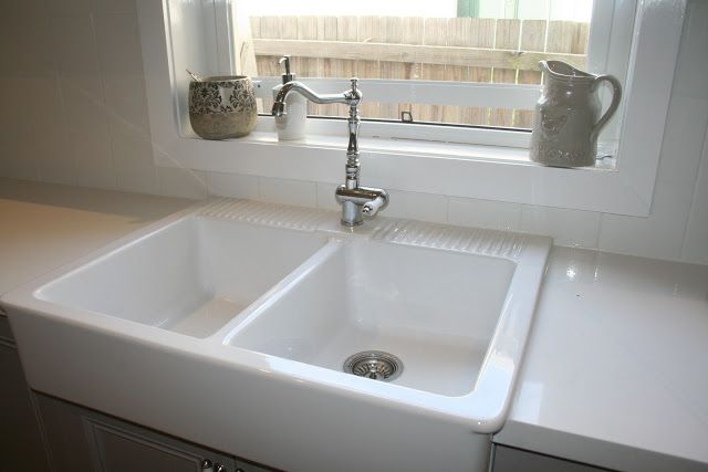 Ikea Double Ceramic Sink And Beautiful Italian Gessi Tap