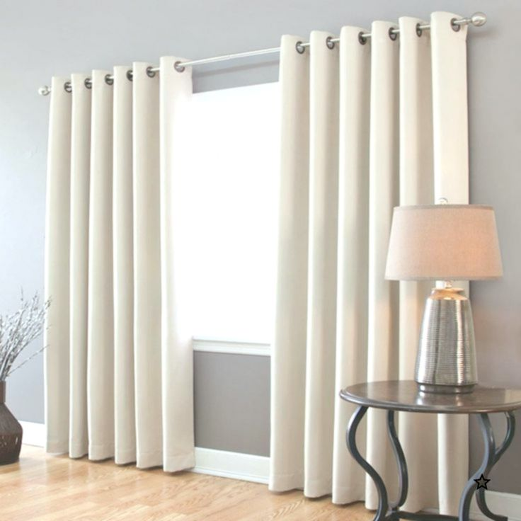 White Blackout Curtains Look Good Against The Grey Wall Blackout